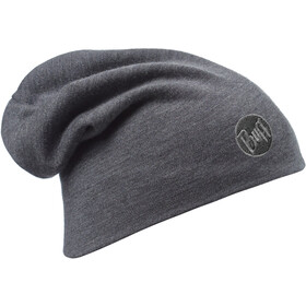 Buff Heavyweight Merino Wool Hat Loose solid grey